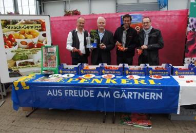 Gemüsedegustation an der Zürcher Blumenbörse