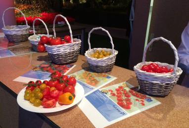 Gemüsedegustation an der Giardina 2016