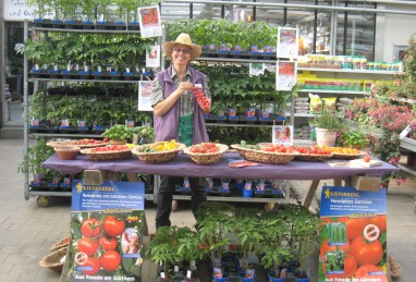 Tomaten und weiteres Naschgemüse in der Gärtnerei